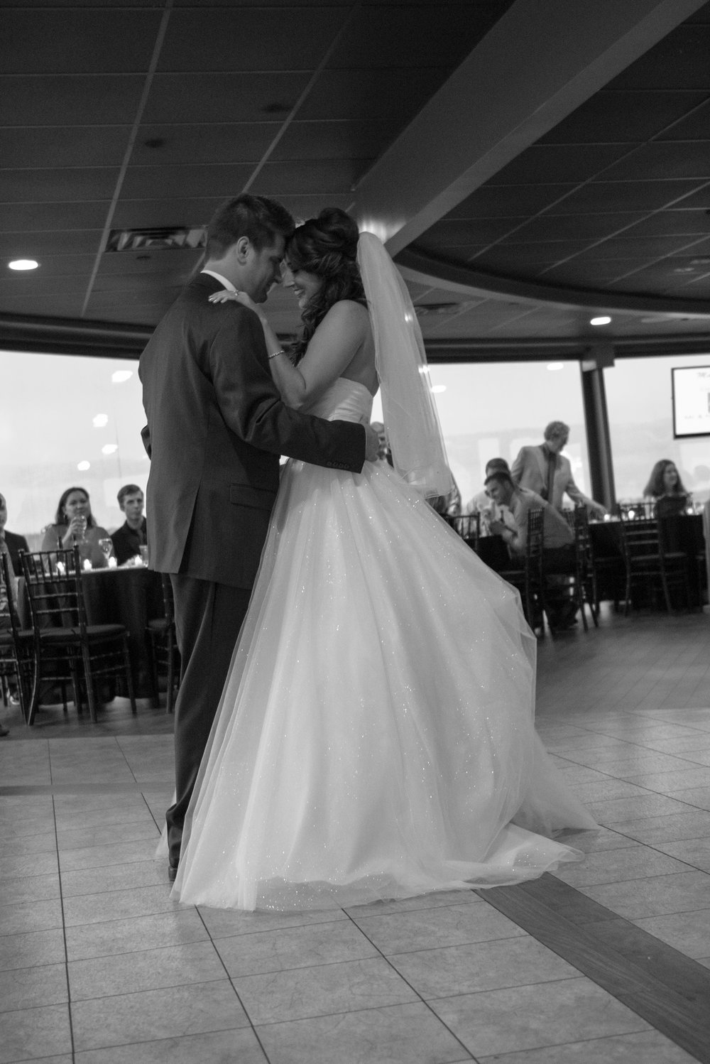 After the intro they moved right into their first dance. Love the love between them!