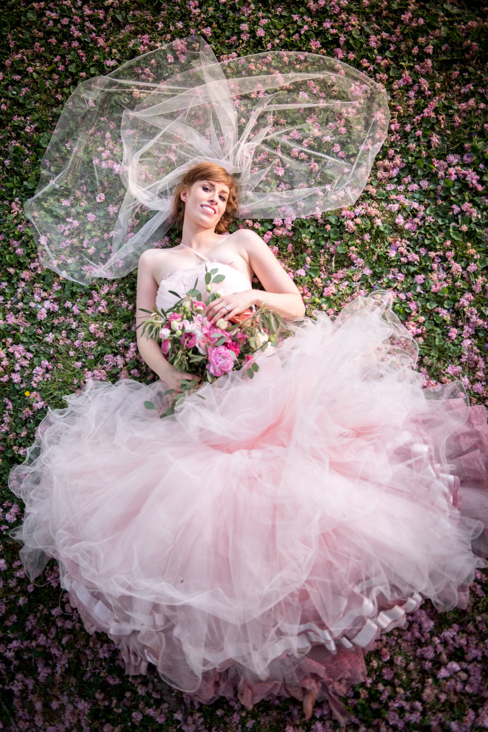 Just magical . . . the perfect pink wedding dress.