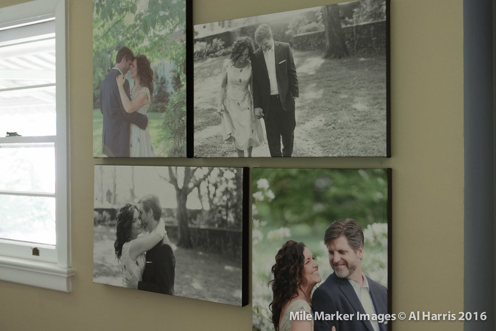My wedding photos on archival canvas in my house - these mean everything to me.