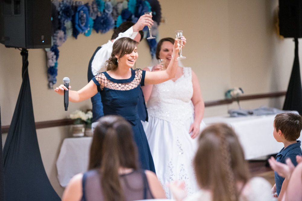 Little sister gives a sweet wedding toast.