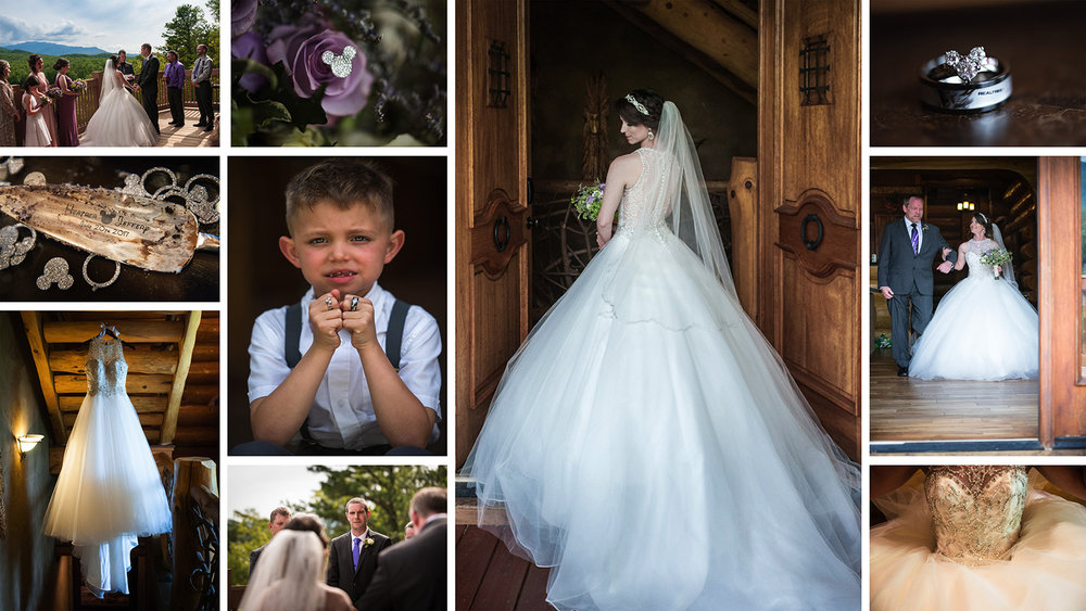 "This is a few of the highlight images of ""Disney in the Smokies: A Fairy Tale Wedding"""
