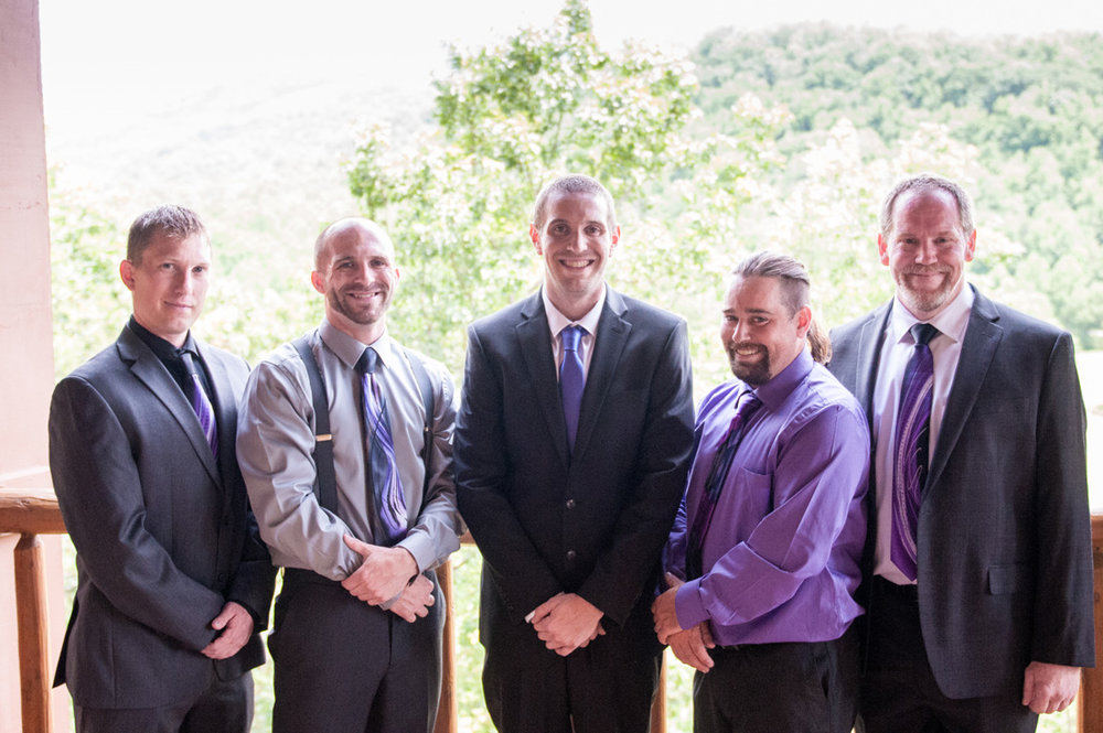 Jeffery and his groomsmen - studs!