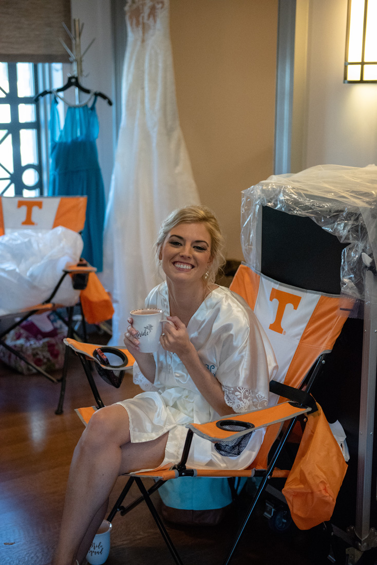 Cassidy in her Ut chair relaxing.