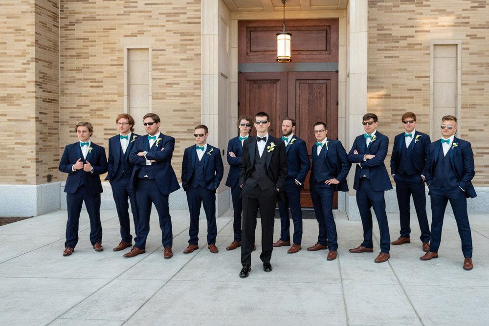 Tyler and his groomsmen having fun!