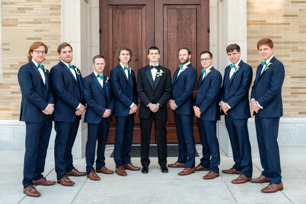 Tyler and his groomsmen more serious