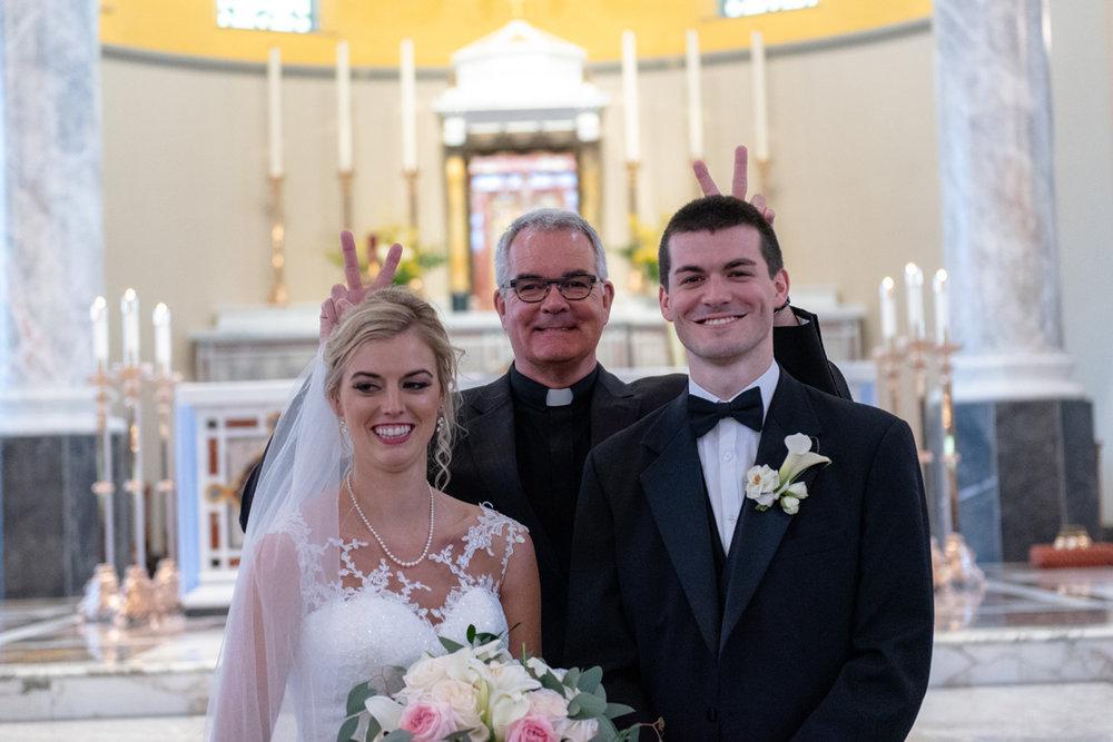 Father Meyer having fun!