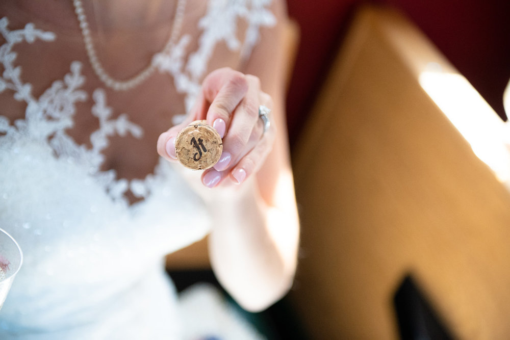 Custom cork detail
