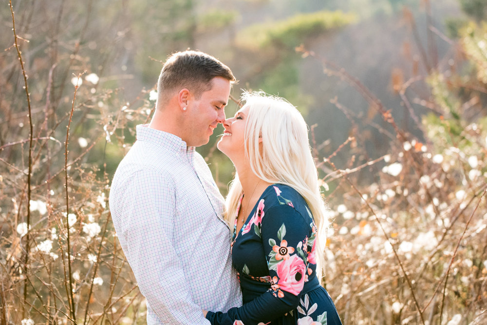 engaged couple in love