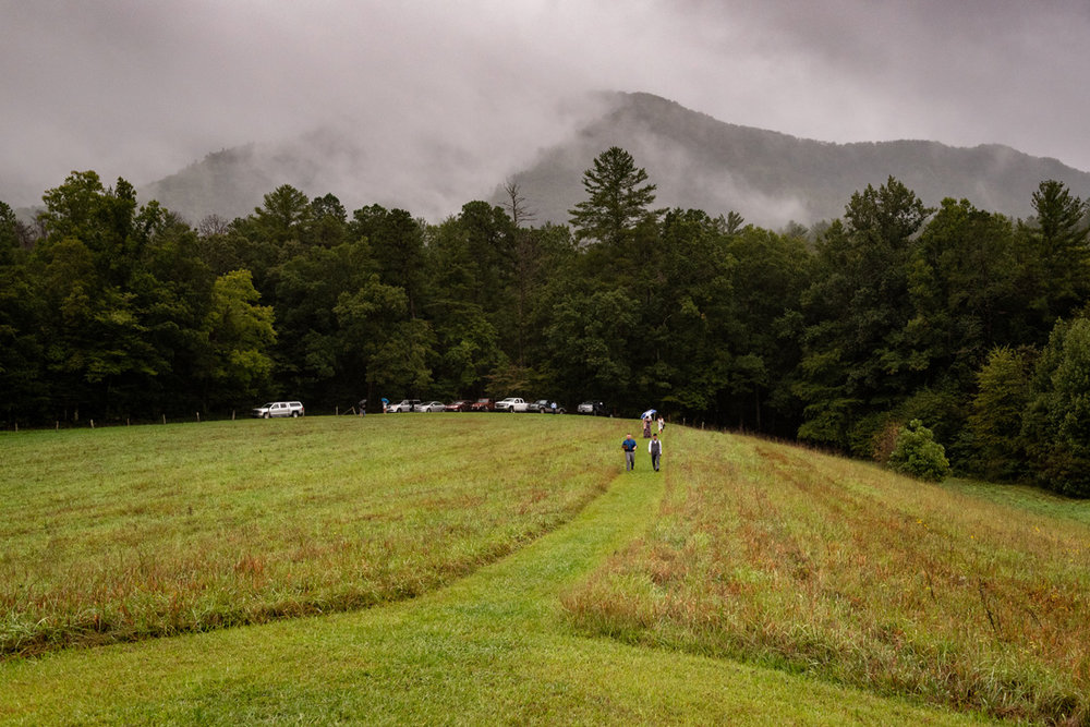 Cades Cove with a little mist making magic!