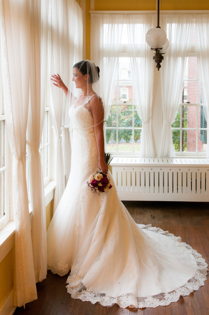 The dress was very important to this bride. We made sure it was fully featured in the most flattering light.