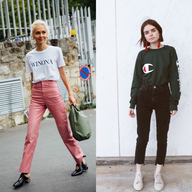 GRAPHIC TEES & OVER-SIZED EARRINGS- As mention above, 2017 is going to transform the effortless and looking presentable, together.Graphic tees and over-sized earrings will be the new kind of everyday look that fashion- lovers will be styling together.