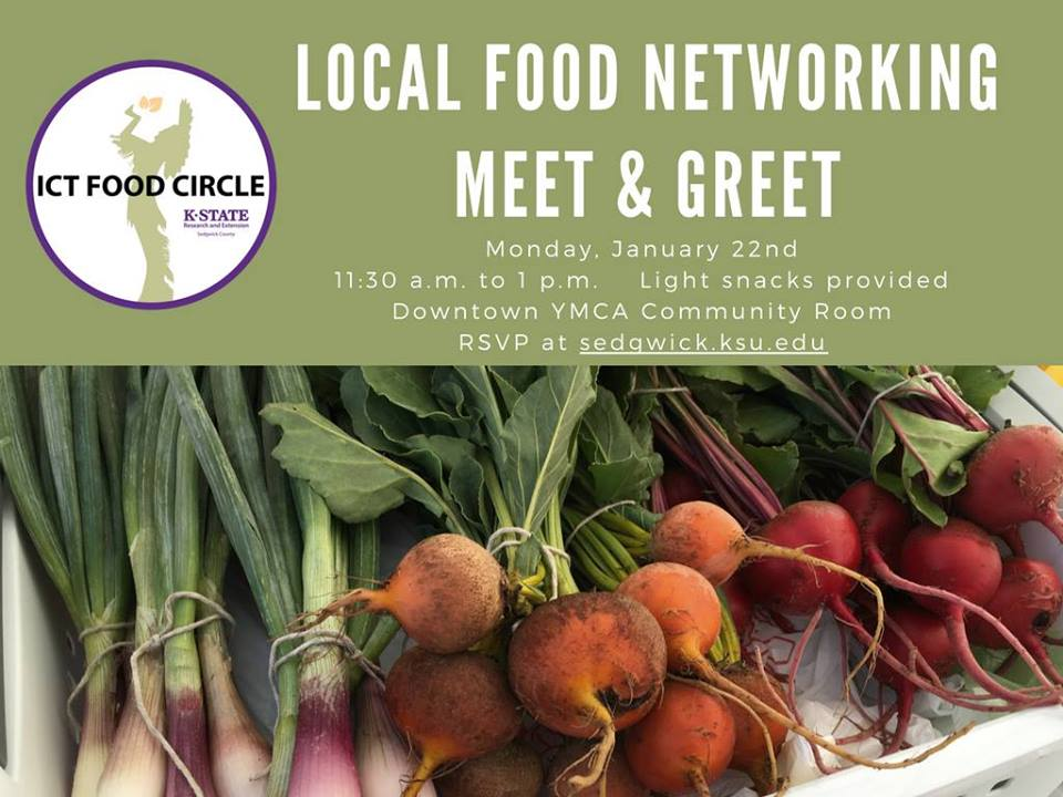 This free, networking event is an opportunity to connect with others in the local food system. The event will be held from 11:30 a.m. to 1 p.m. on Monday, January 22, 2018 in the Downtown YMCA Community Room. Light drinks and snacks will be provided.   If you grow, raise, or produce a local food product, join us to meet other farmers, potential buyers, and other service providers.   If you own or operate a restaurant, grocery store, or other local food business that might purchase local ingredients, join us to meet local producers of meat, produce, honey, or other foods that you could use or sell in your business.   If you are a business that supports local producers or a non-profit that is interested in working with the local food system, this is a great opportunity to meet a wide range of people who make our food system work.