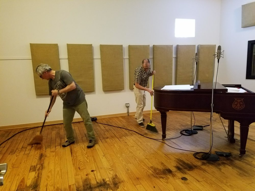 Lou Mallozzi (front)and Joseph Clayton Mills (back) in the ESS studio