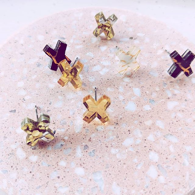 """If big earrings aren't for you - Our latest """"X"""" shape studs are the best lil"""" piece of glam for everyday ⭐"""