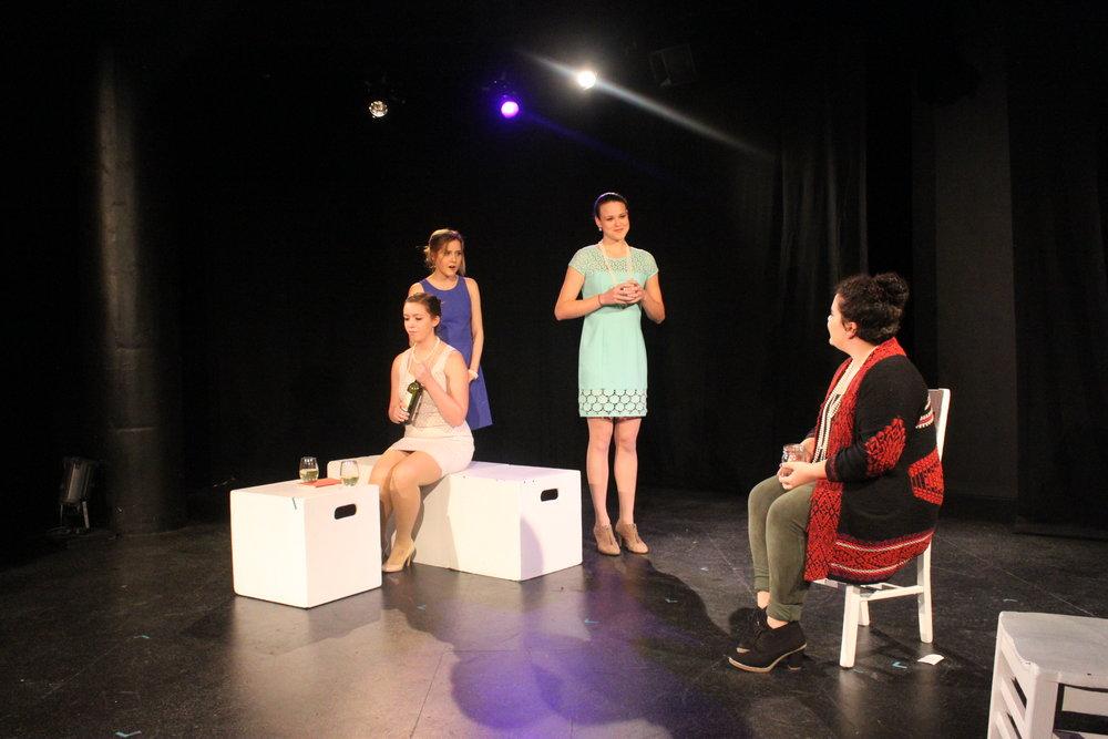 Left to right:  Taylor Beidler ,  Vassileia Kazee , Isabel Schnall, Lydia Utter