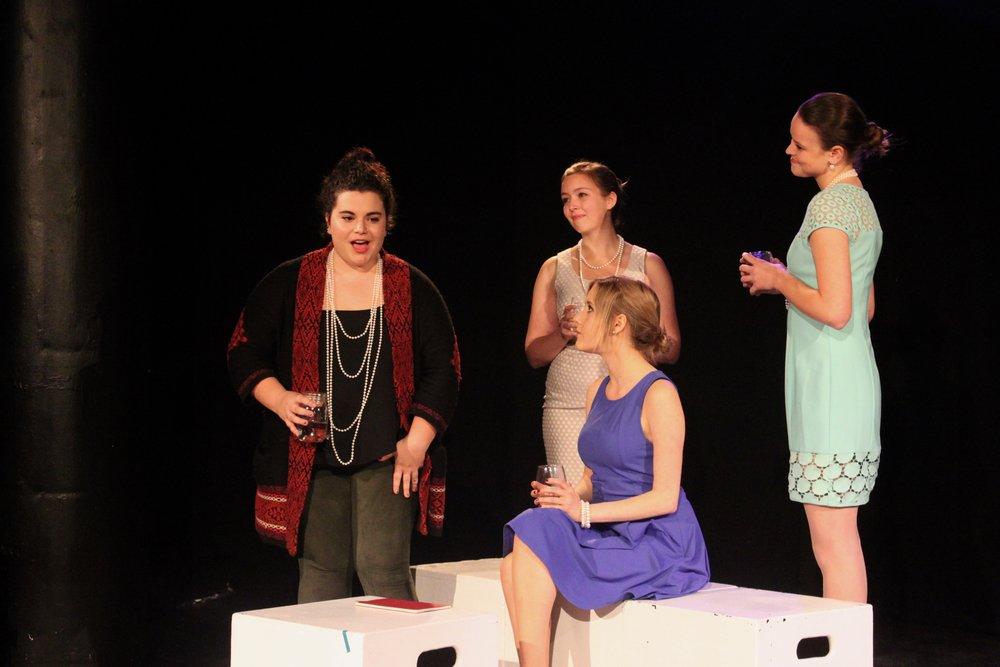 Left to right: Lydia Utter,  Taylor Beidler , Vassileia Kazee , Isabel Schnall