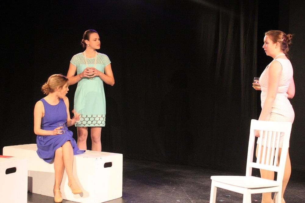 Left to right:  Vassileia Kazee , Isabel Schnall,   Taylor Beidler