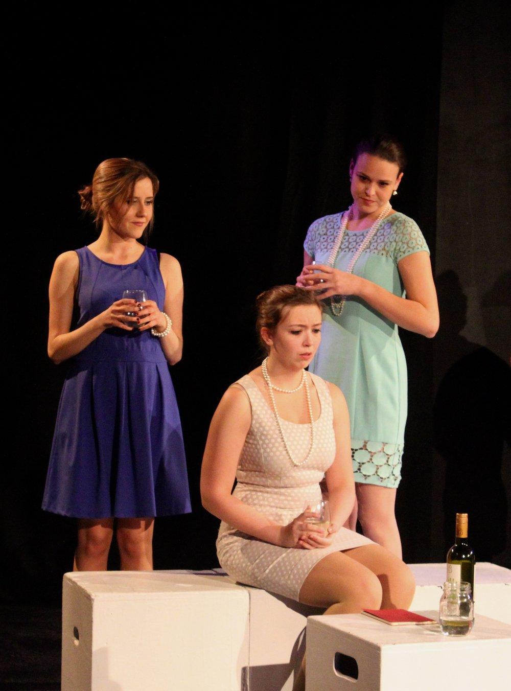 Left to right:  Vassileia Kazee ,   Taylor Beidler , Isabel Schnall