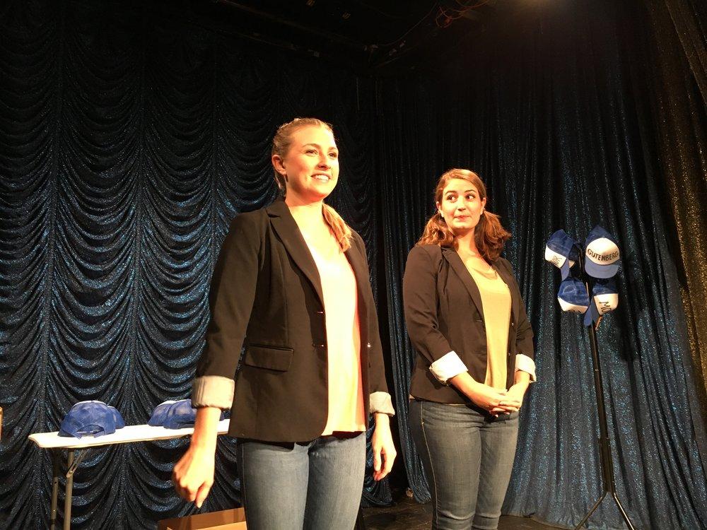 Left to right:  Michelle Ciccotelli , Stephanie Occhipinti