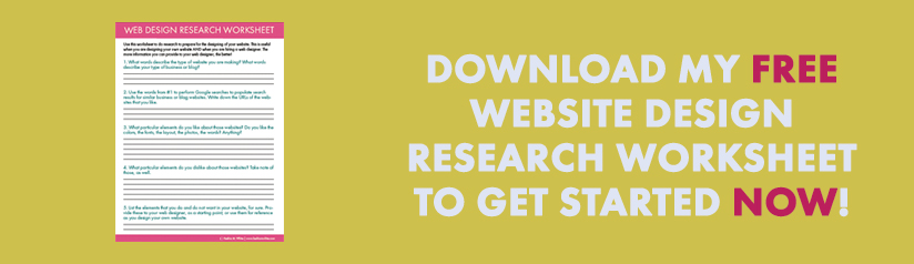 web design research worksheet