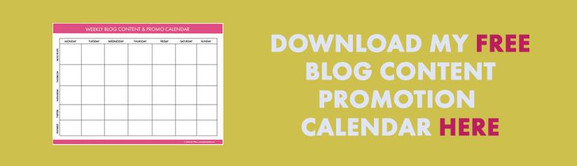 blog content promotion calendar