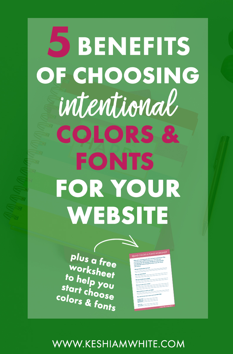 Choosing Colors & Fonts for Your Website
