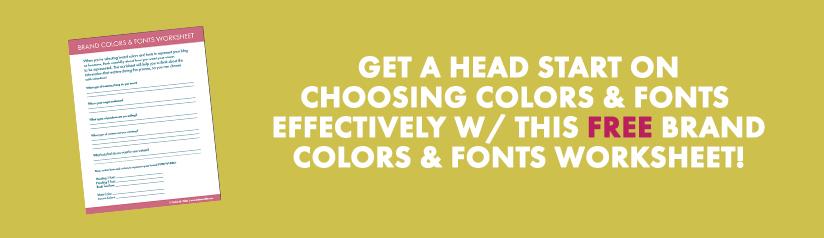 Choosing Brand Colors & Fonts