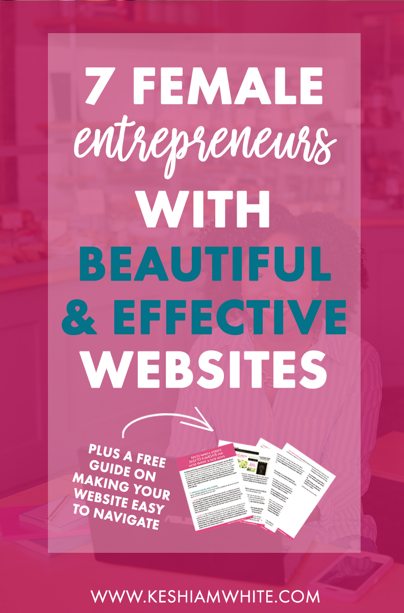 Female Entrepreneurs with Beautiful Websites