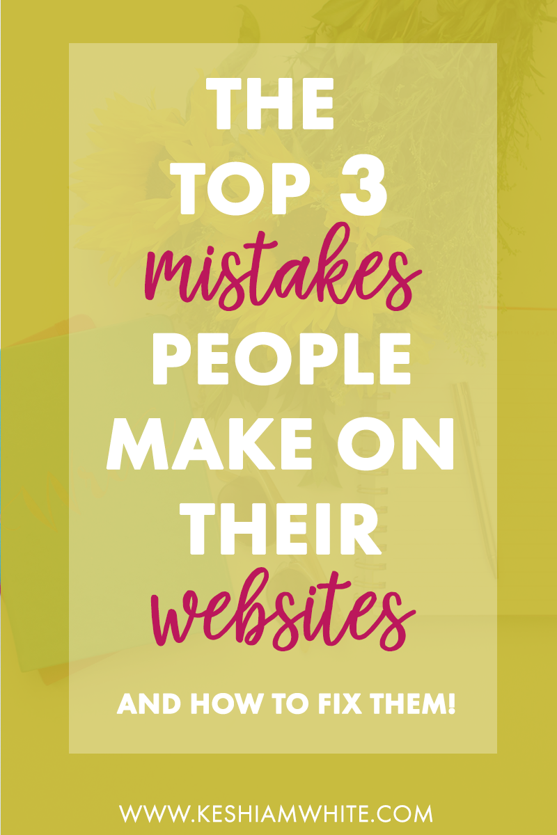 WEBSITE MISTAKES
