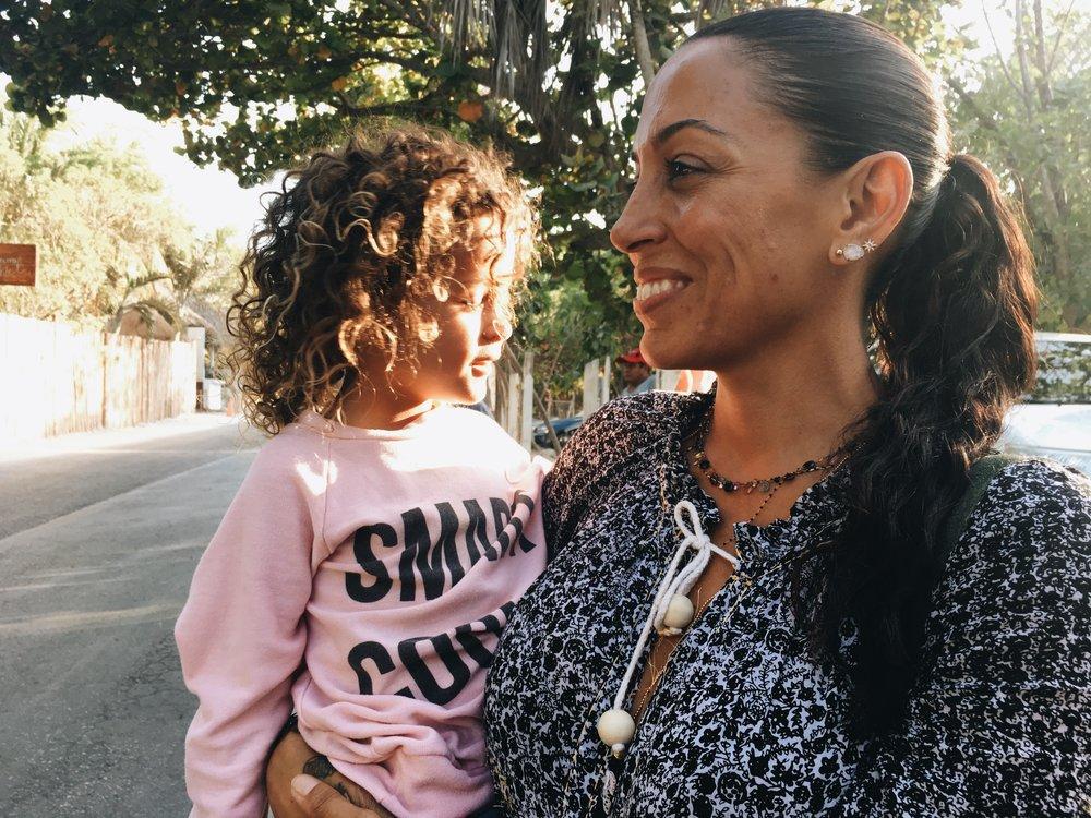 Daria Hines with her beautiful daughter; Chiara.