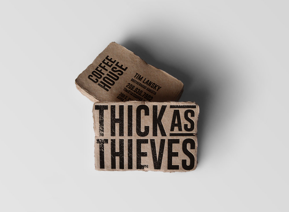 THICK AS THIEVES  Branding, Business Collateral, Storefront,