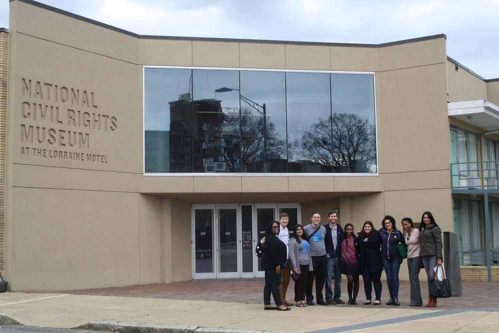 Participants at Lab #3: Diversity, Equity, and Inclusion visit the National Civil Rights Museum in Memphis, TN