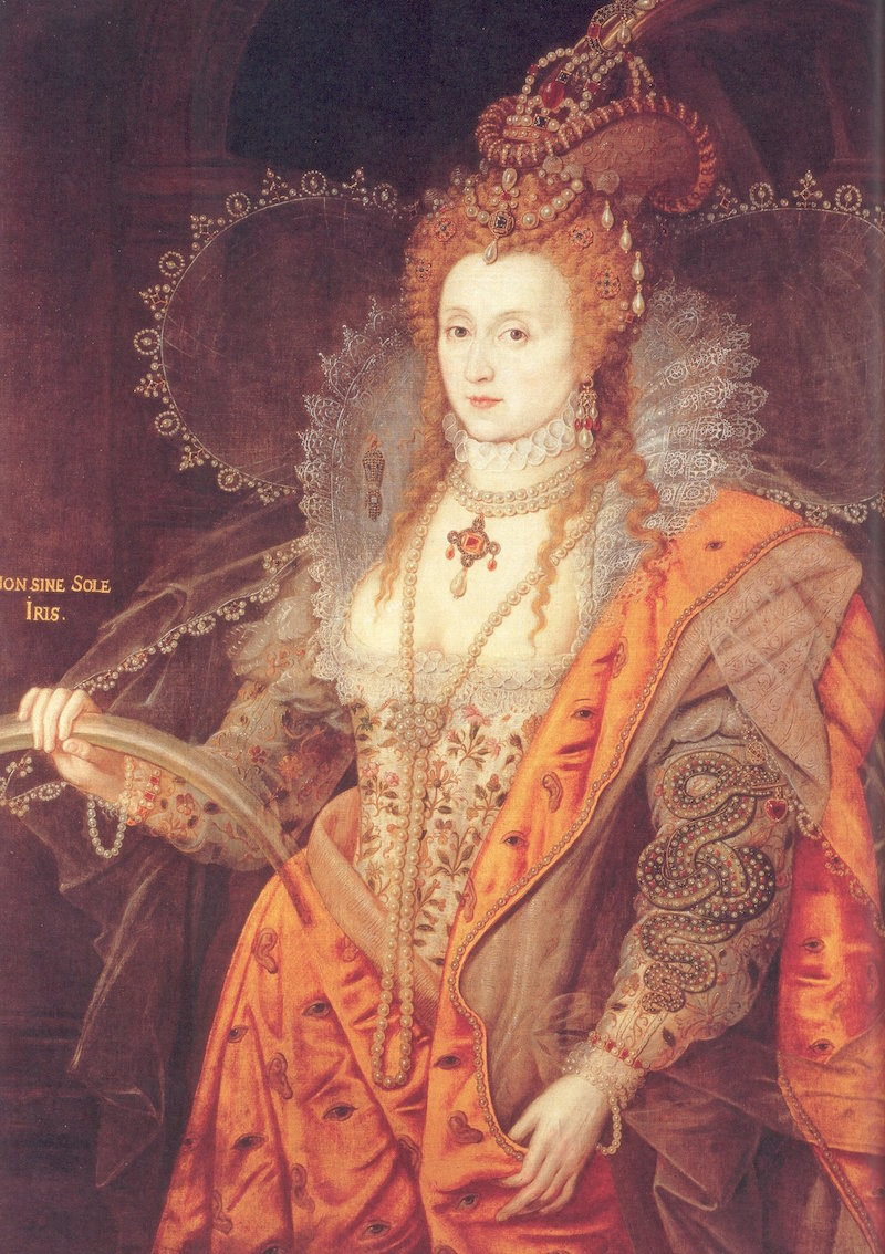 Queen Elizabeth I appeared to like the color orange!
