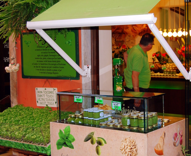 A pesto shop somewhere in Italy!