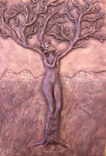 """Divine Mother"" - Unfortunately, it cracked in the kiln!"