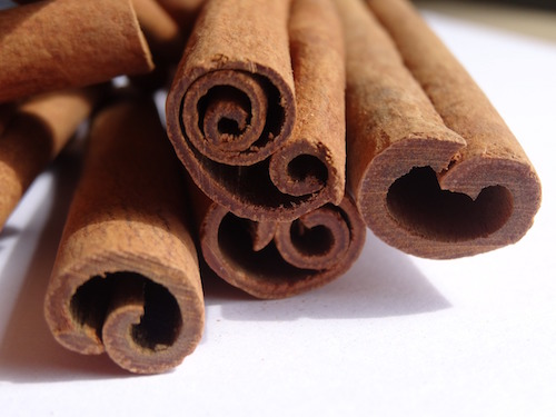 Cinnamon bark is sold as sticks, chips and powder.