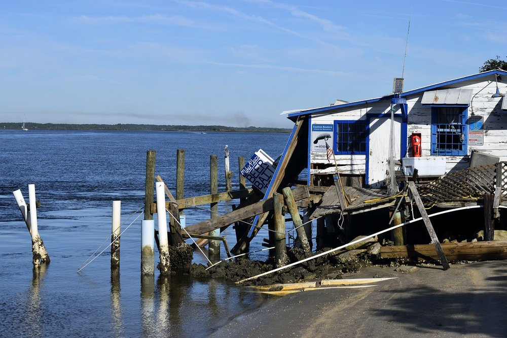 Damage to a coastal business after Hurricane Matthew PHOTO CREDIT: pixabay