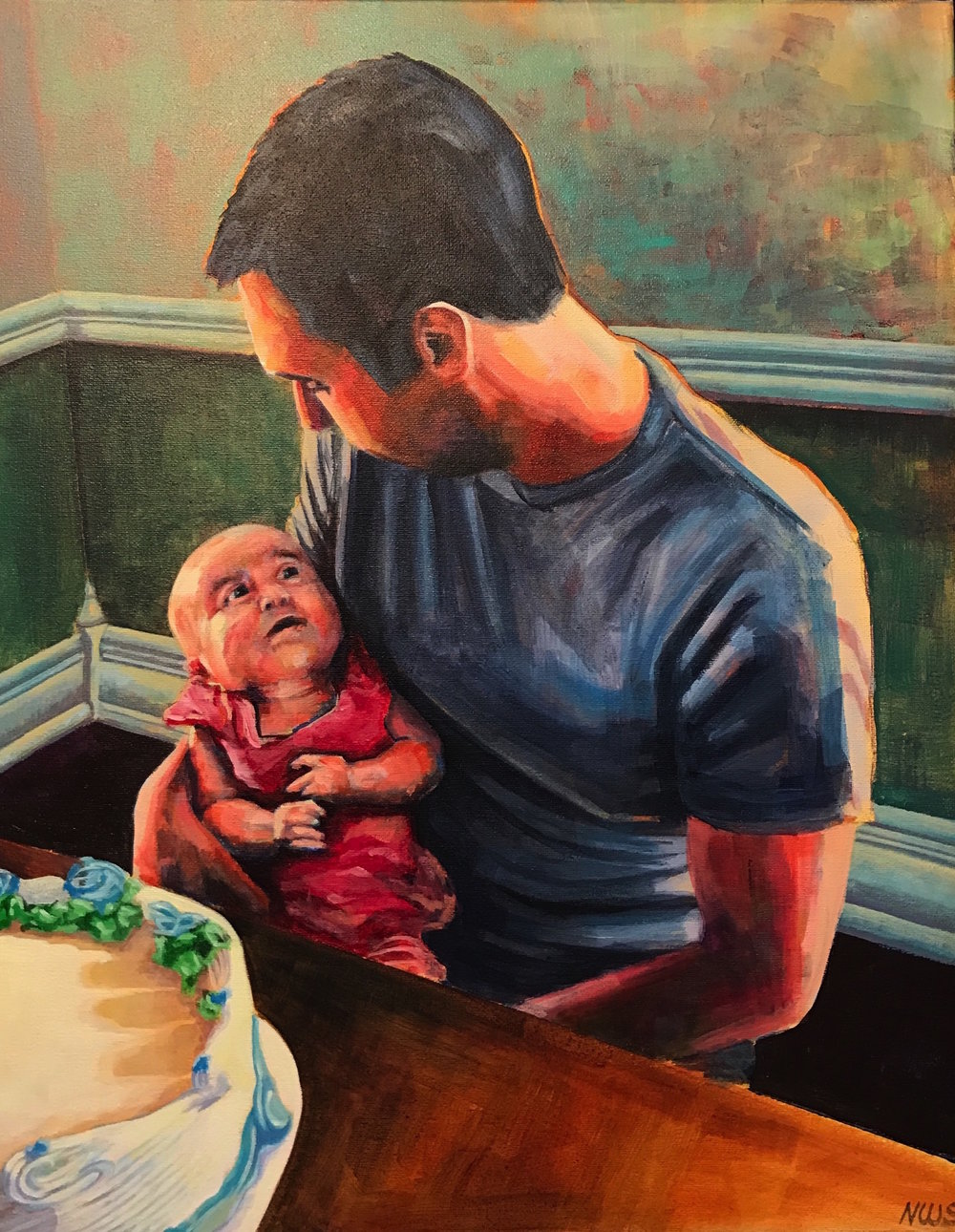 "Samuel and Evie  | acrylic on canvas | 20"" x 16"""