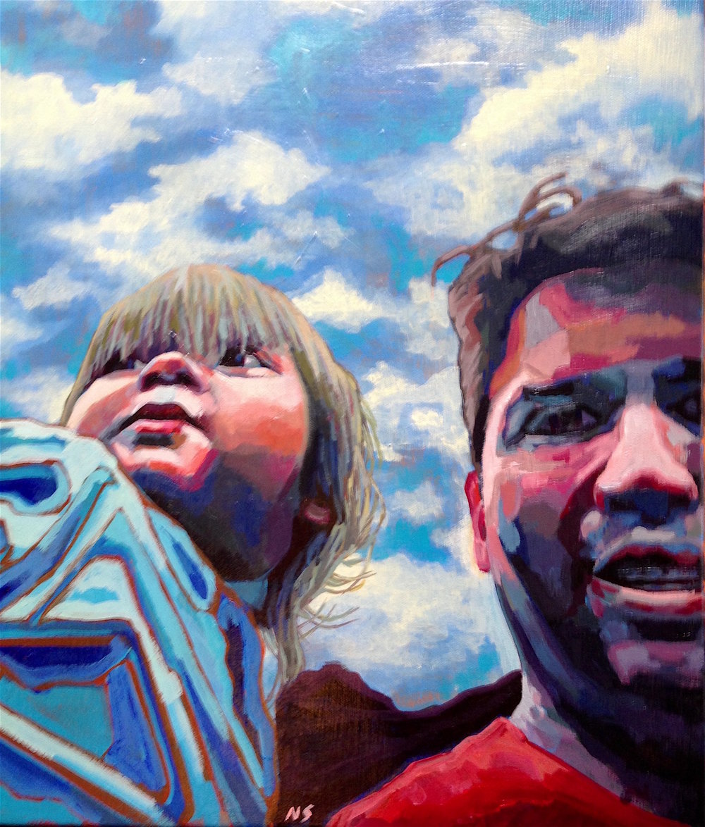 "Eli and Nephew  | acrylic on canvas | 30"" x 24"""