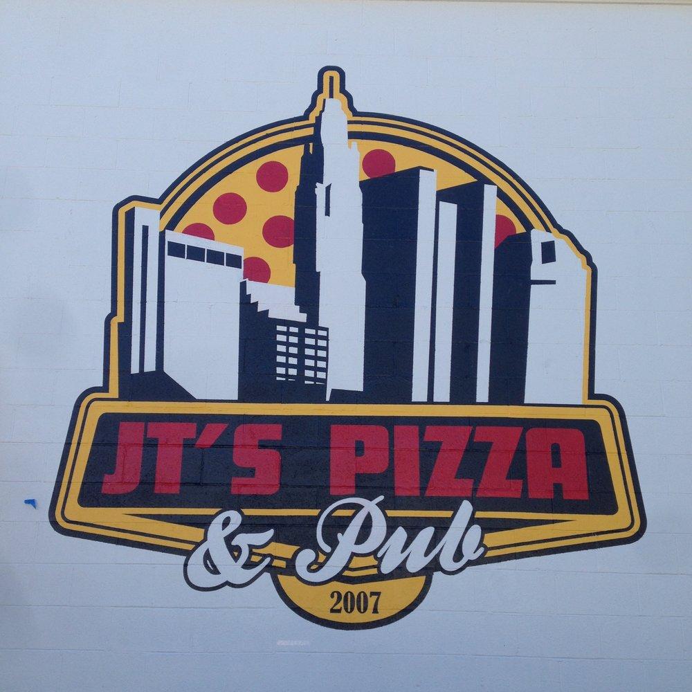 Exterior Logo | latex paint | Jt's Pizza Pub |Columbus, Oh