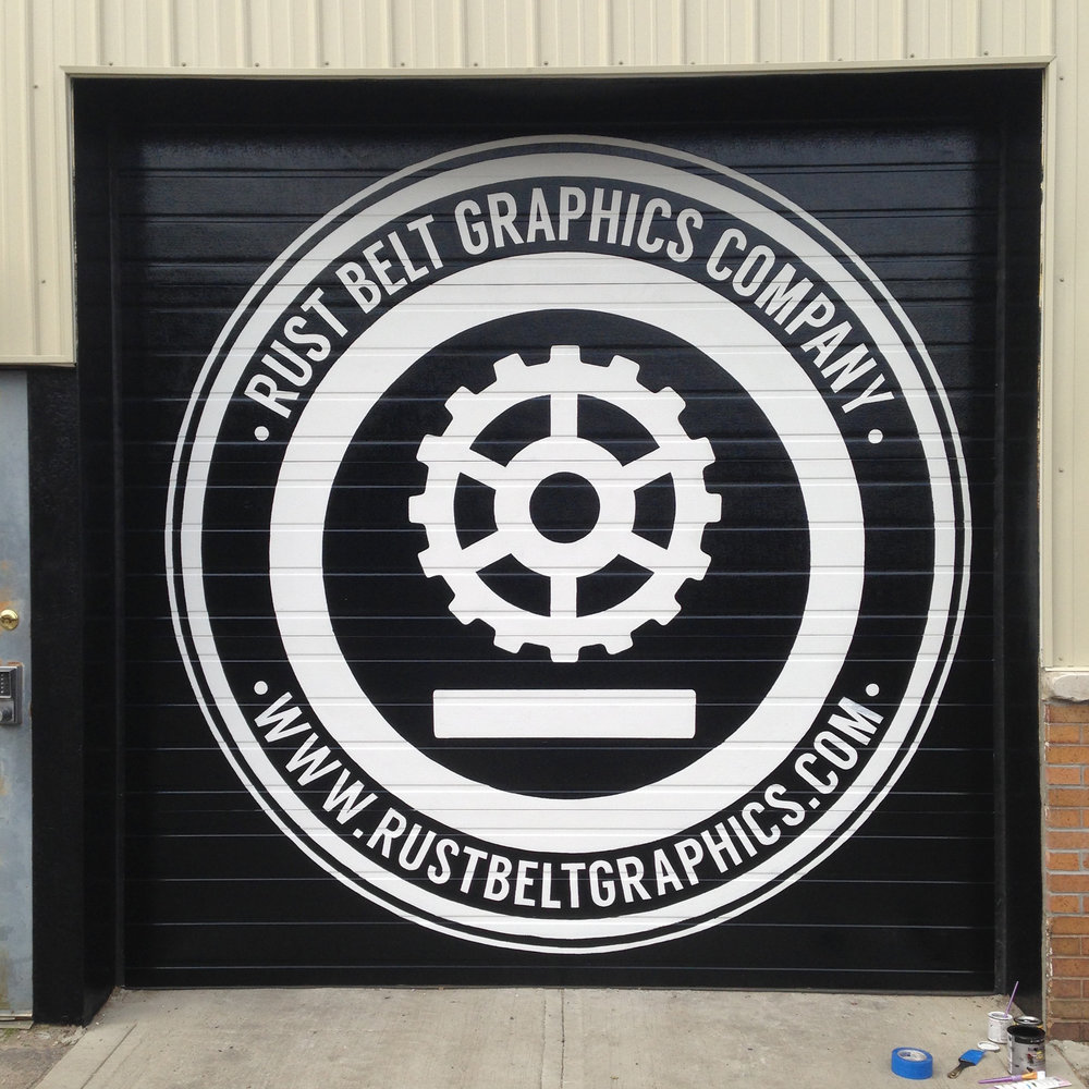 Exterior Logo | enamel | Rust Belt Graphics Company | Columbus, Oh