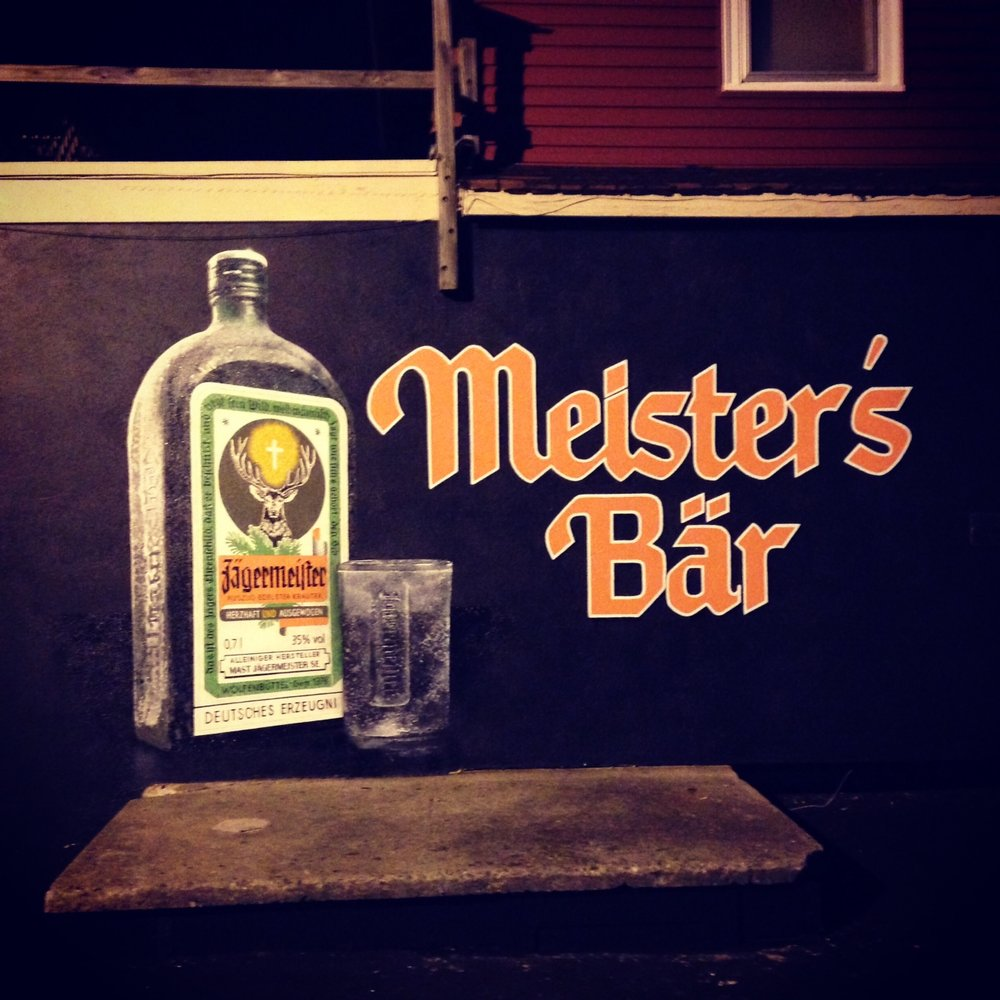 Jaegermeister Mural | Collaboration with Andrew Kern | Enamel and Aerosol | Meister's Bar | Columbus, Oh