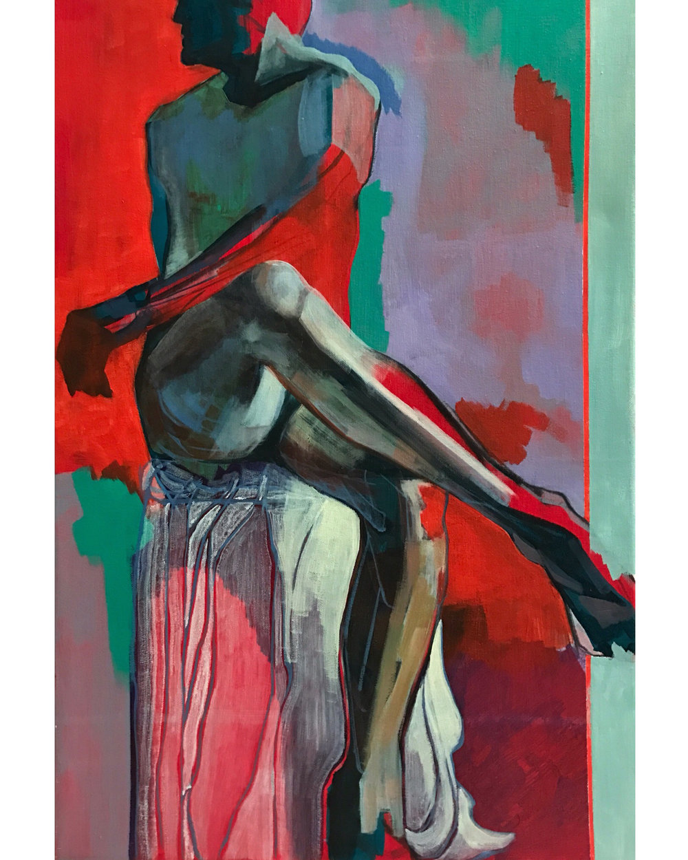 "Untitled Nude Study  | Oil on Canvas | 30"" x 20"""
