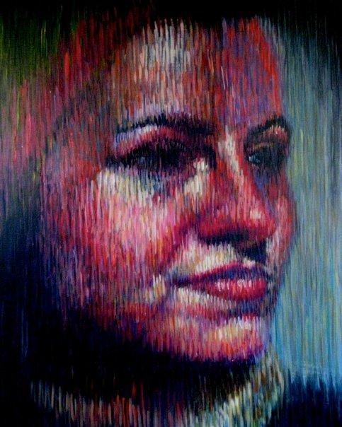 "Katherine 2  | acrylic on paper | 36"" x 26"""