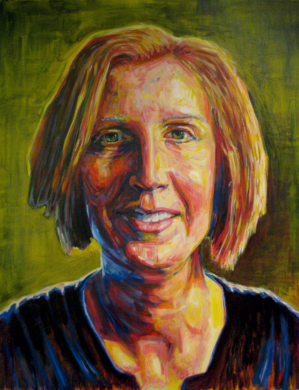 "Sarah  | acrylic on canvas | 30"" x 20"""