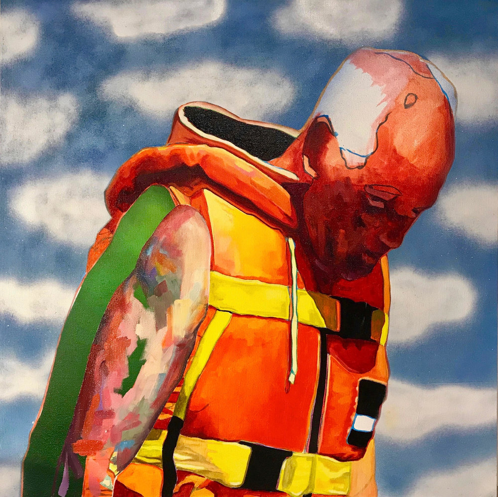 "Untitled  | oil & aerosol on canvas | 36"" x 36"""