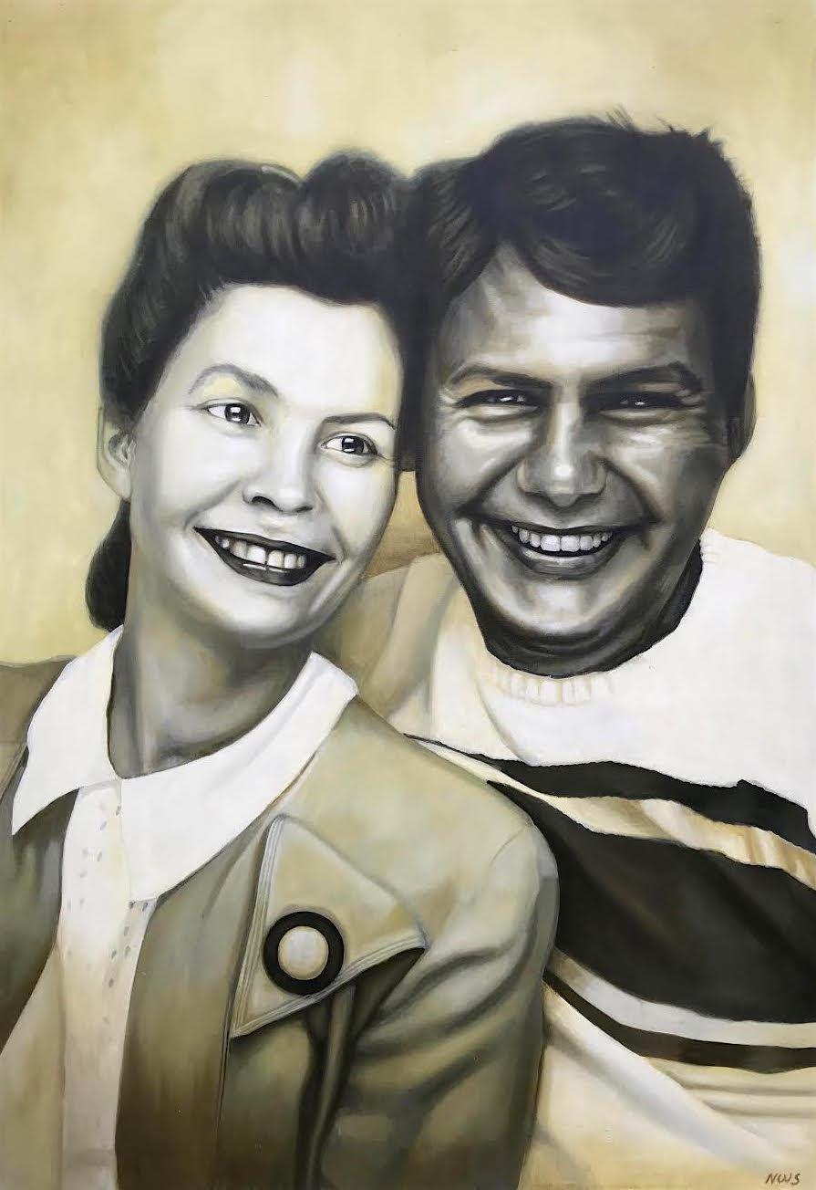 "Ambrose & Eve  | Oil on Canvas | 60"" x 46"" | Ambrose & Eve Restaurant | Columbus, OH"