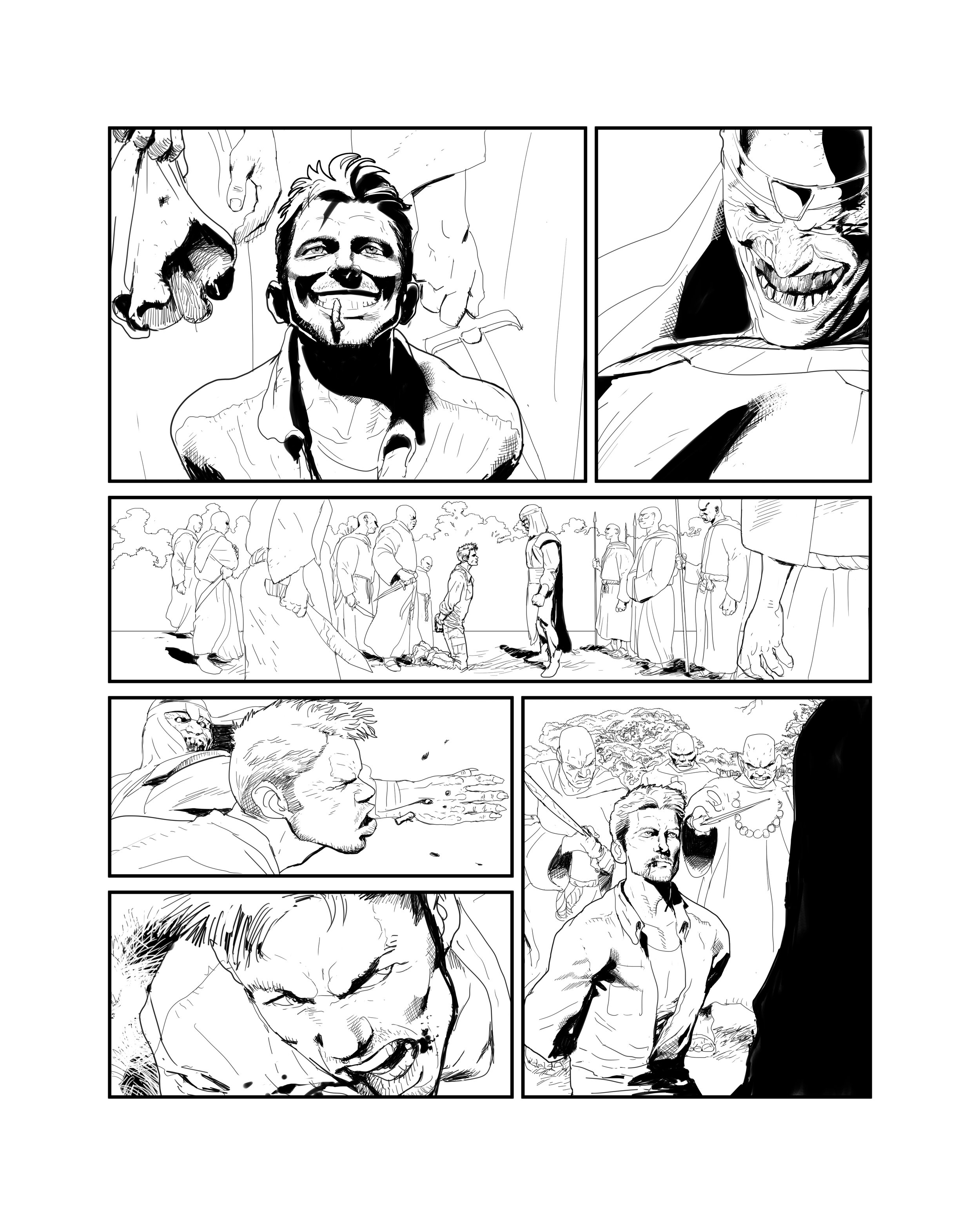 Justice League Dark pencil sample page 2.