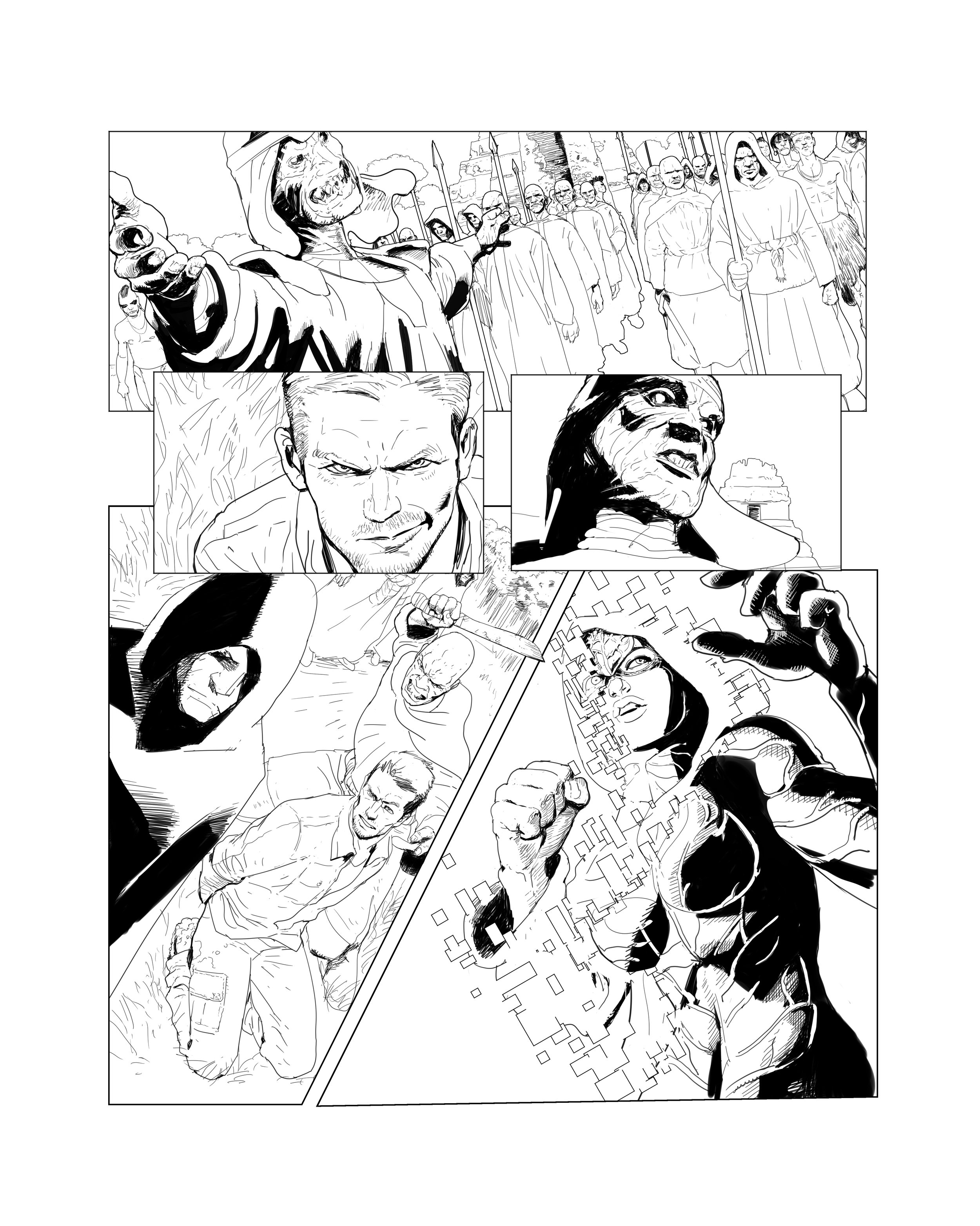 Justice League Dark pencil sample page 3.
