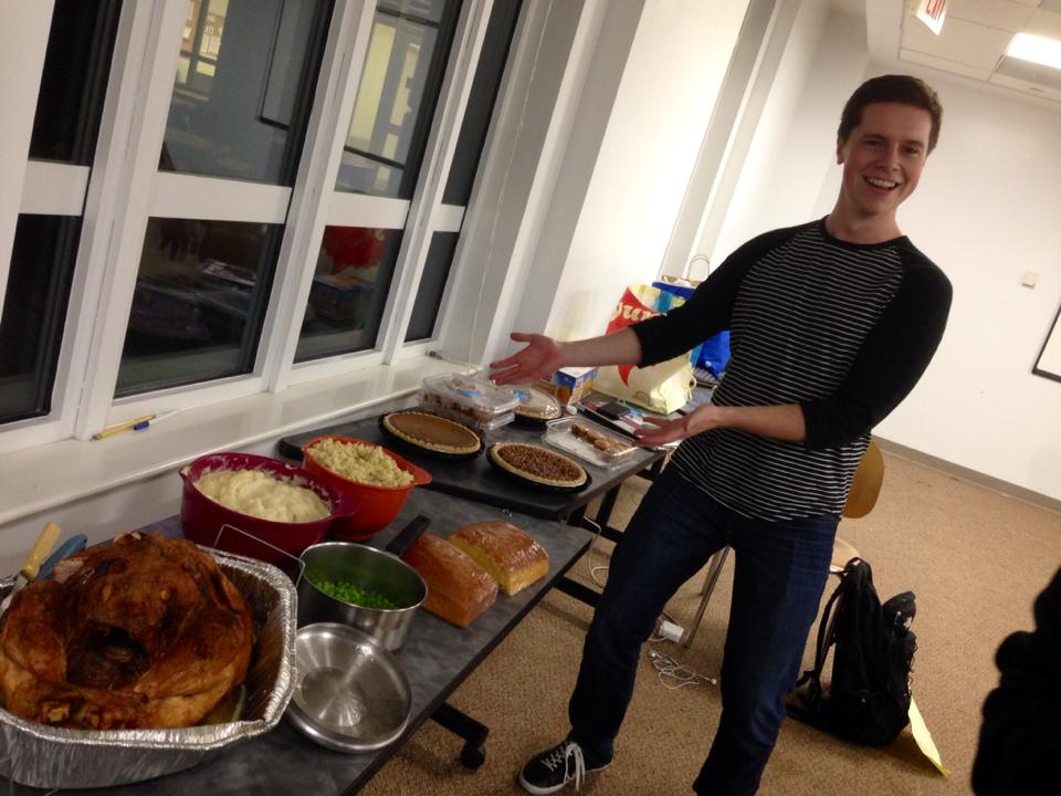 "Every Thanksgiving, GW College Democrats celebrate ""Demsgiving""—a potluck style event where members join together as a Dems family to eat Thanksgiving food classics, listen to holiday music, spend time with friends, and reflect on what we're thankful for."